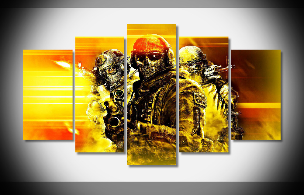 7309 Call of Duty soldiers Poster wood Framed Gallery wrap art print home wall decor Gift wall picture Already to hung digital
