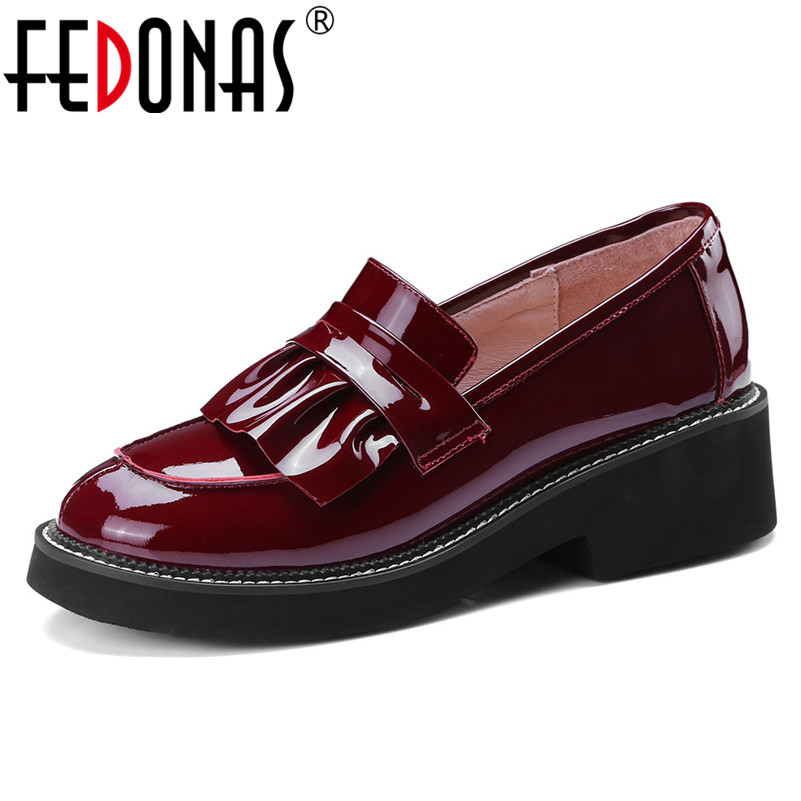 FEDONAS Women Tassels High Heels Spring Autumn Wedding Party Shoes Woman Sexy Genuine Leather Prom Pumps Female Basic Pumps