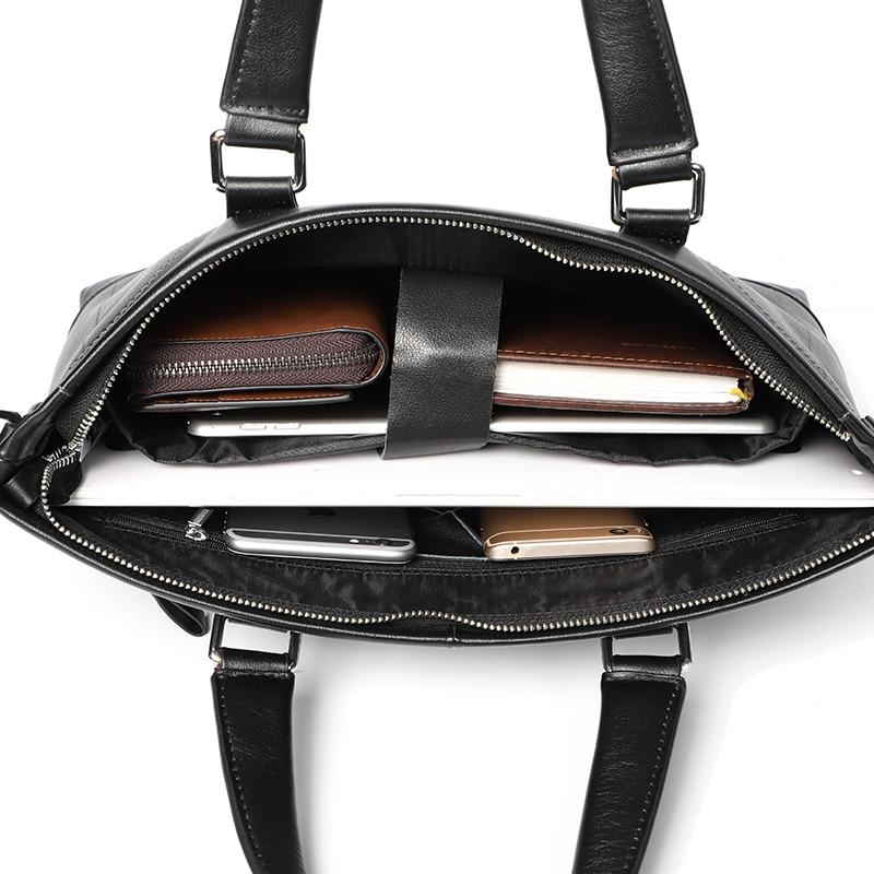Véritable porte-documents en cuir véritable hommes sac à main pour ordinateur portable hommes Document sac mâle Messenger sacs d'affaires sacoche pour ordinateur portable pour hommes sac - 5