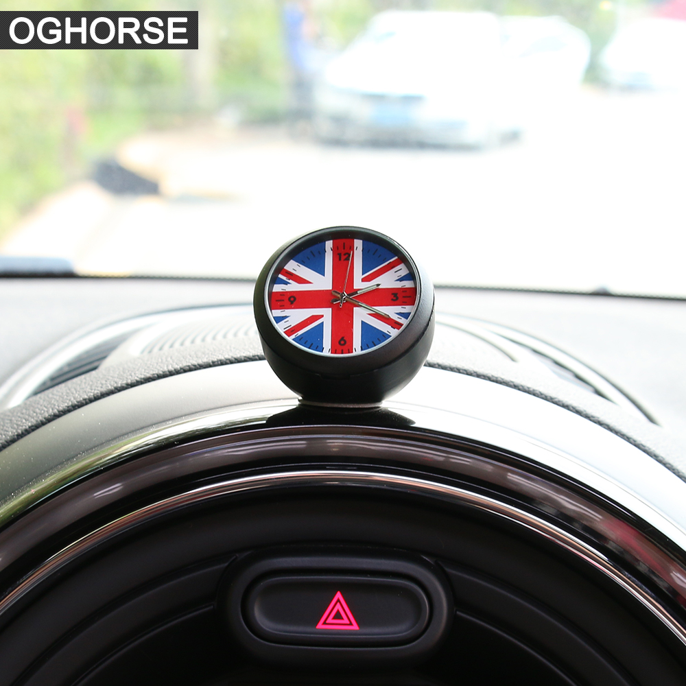 UK Flag Union Jack Car Clock Dashboard Decor Accessories For MINI Cooper R50 R52 R53 R55 R56 R57 R58 R59 R60 R61 F54 F55 F56 F60