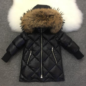 Image 3 - Children Outerwear Winter Jackets Coats Girls Warm Thick Down Jacket Kids Hoodie Big Fur Clothes Russia Winter Snow Wear Parka