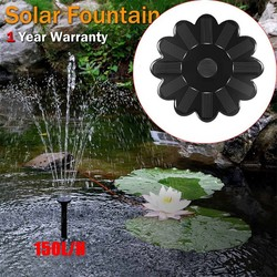 Solar Water Fountain Pump For Garden Pool Pond Watering Outdoor Garden Miniature Lotus Floating Type Water Pumps Kit Supplies