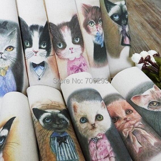 La mano teñida 10 Una Variedad de Algodón de Lino Impreso Quilt Tela Para DIY de