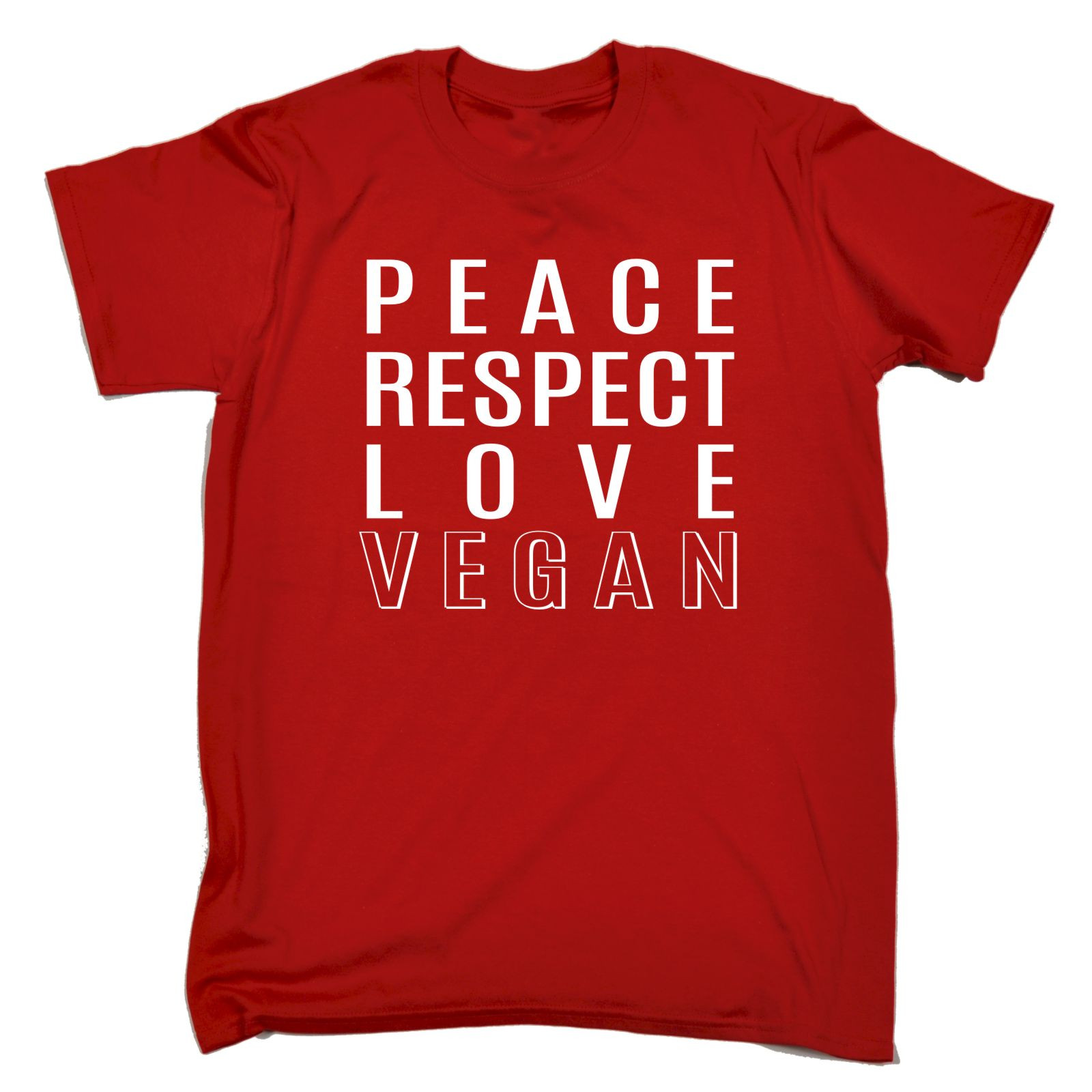 PEACE RESPECT LOVE VEGAN T SHIRT Vegan Vegetarian Hippie Hipster Birthday Gift Loose Cotton Shirts For Men Cool Tops In From Mens