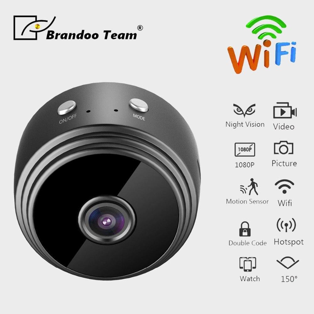 купить HD 1080P Mini Wifi IP Camera Infrared Night Vision Micro Network Camcorder video Voice Car Sport DV cam по цене 3189.08 рублей