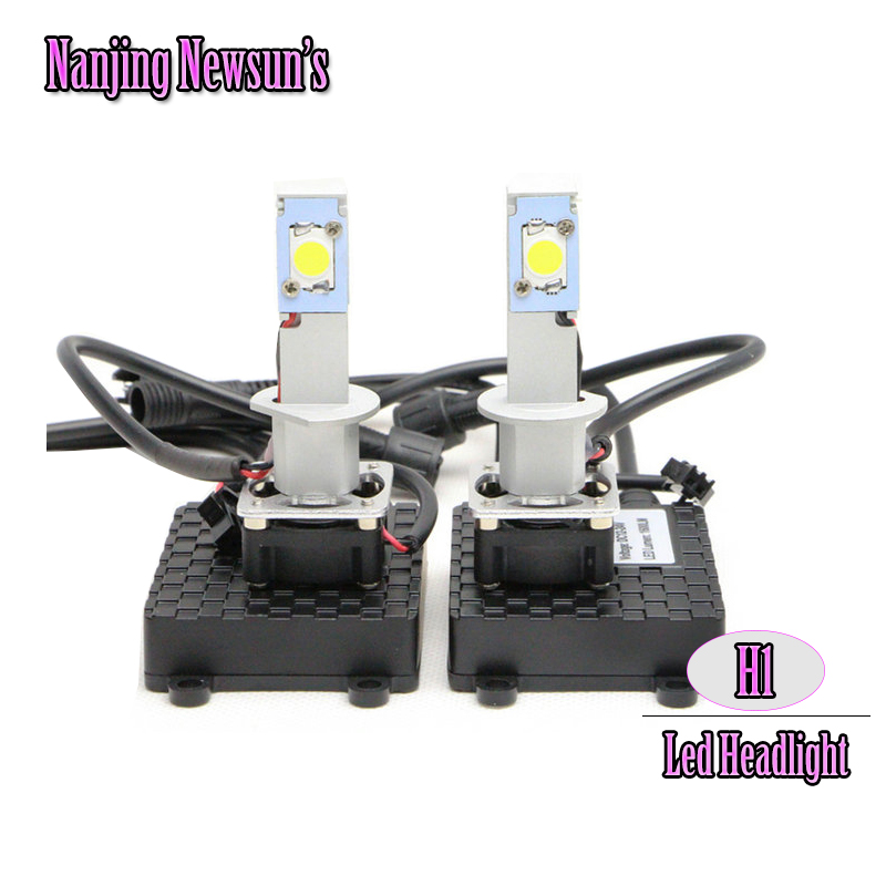 Last One Set H1 Led Headlight Conversion Kit Super Cheap Free Shipping H1 Headlamp Driving Lamp Bulbs Cree Chip H1 Bulb Cheap free free free at last