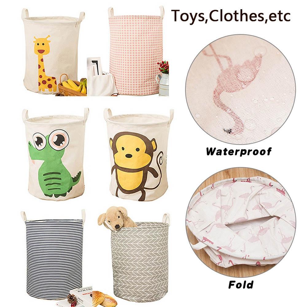 Image 3 - Dobrável dobrável cesta de lavanderia grande capacidade bin balde  lavanderia cesta lona suja organizador de roupas com alça bin  1pcCestos de armazenamento