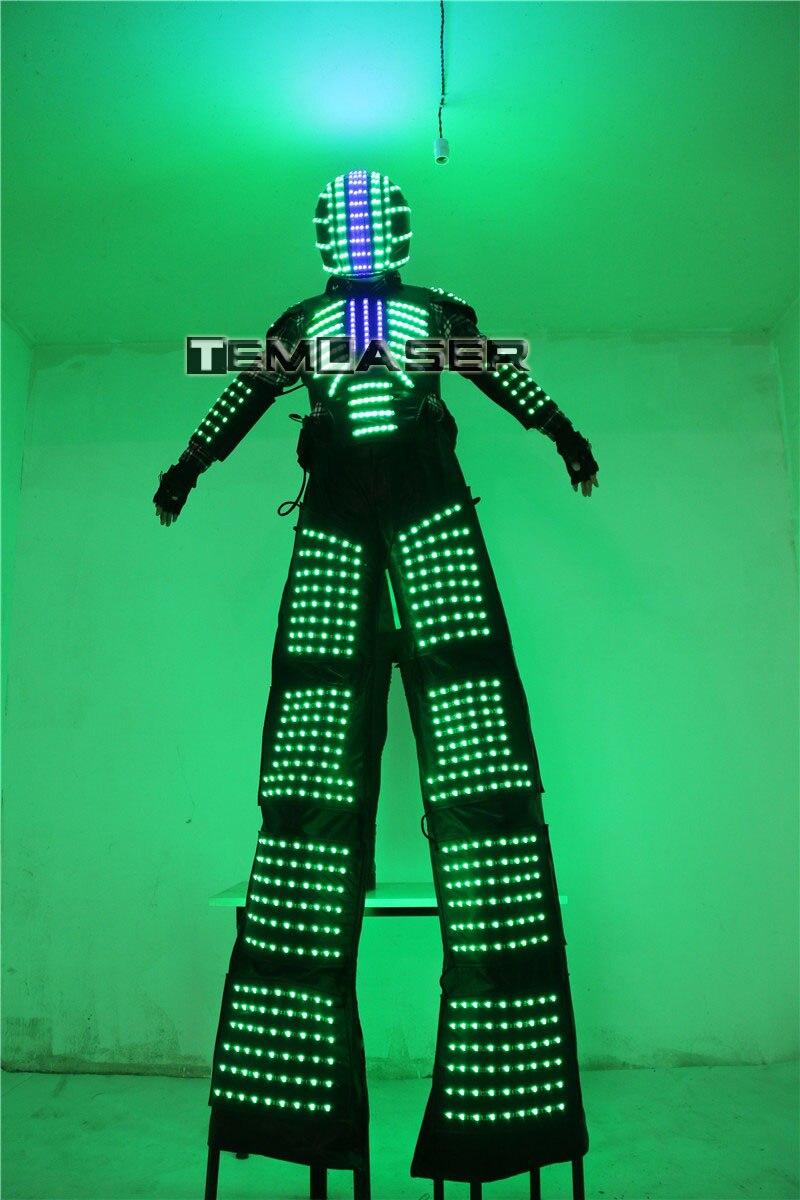 LED Luminous Robot Kostüm David Guetta Robot Suit Performance - Partyartikel und Dekoration - Foto 4