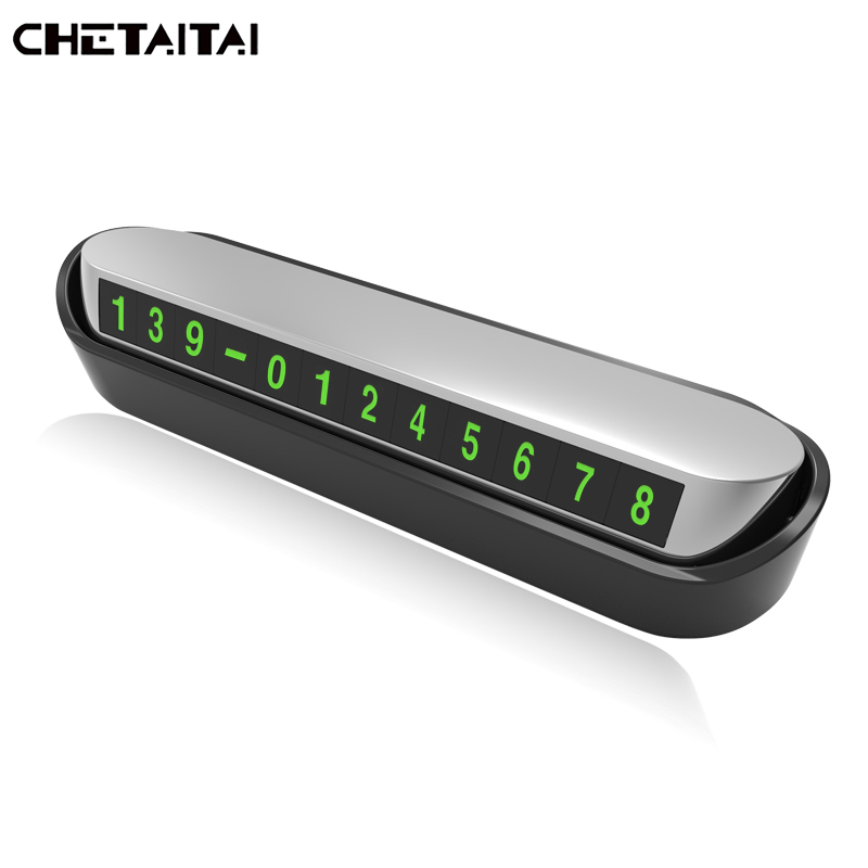 Chetaitai Car Luminous Temporary Stop Car Parking Sign Car Sticker Phone Number Card Temporary Parking Card Auto Styling Decal