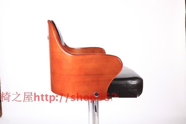 Bar Furniture Bar Chairs European High-grade Solid Wood Buffet Chairs Retro High Chair Lift Swivel Chair At The Front Desk