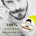 100% Natural aftershave Bálsamo Barba Bigode Cera para o estilo, cera de abelha hidratante suavização senhores barba cuidado