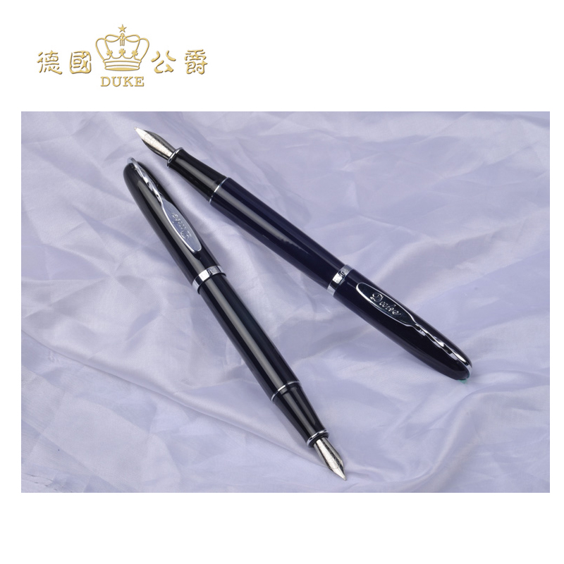 Free Shipping Duke M11 Iraurita Nib Fountain Pen High Quality Ink Pen Office Stationery Business Gift Pens with An Original Box duke luxury writing business stationery black and gold 0 5mm fountain pen with blue gem on the top metal ink pens free shipping