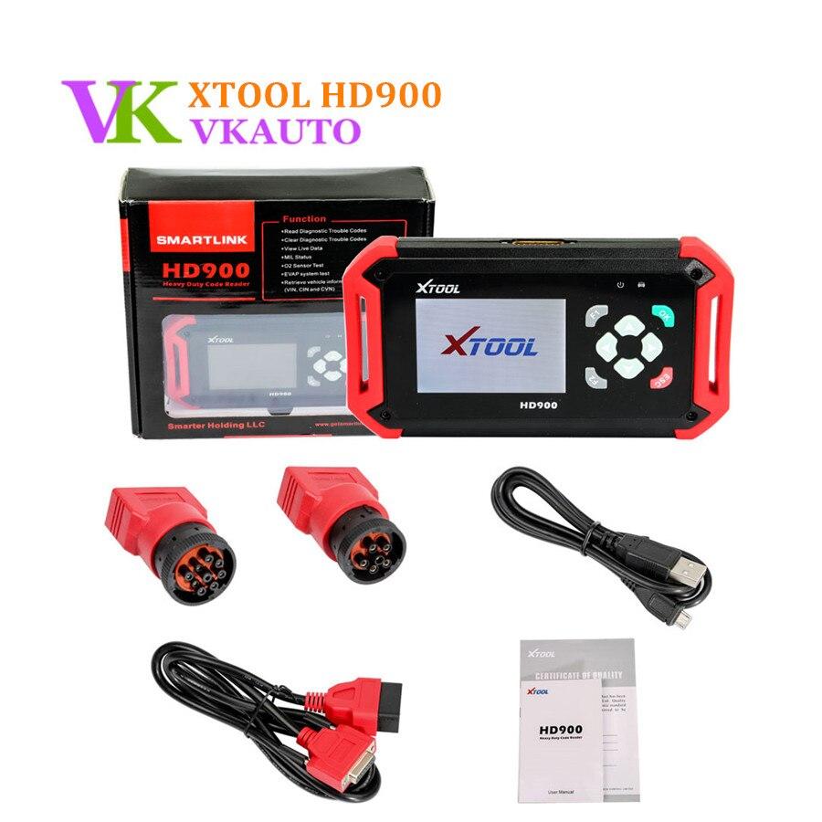 XTOOL HD900 сверхмощный считыватель кодов компьютера грузовых автомобилей поддержка SAE J1939 J1708 Протокол замена PS201 инструмент сканирования