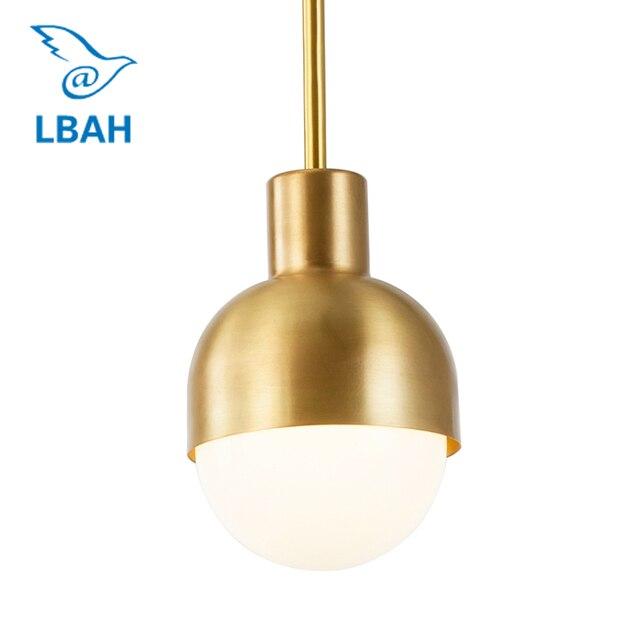 Nordic single head the head of a bed bedroom chandeliers corridor corridor restaurant bar toilet copper lamps