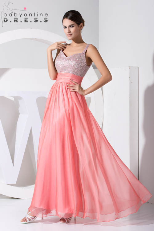 Custom Color 2019 Long A-Line Bridesmaid Ruched Dresses Beaded Sleeveless Chiffon Wedding Party Dresses Prom Gown Vestidos