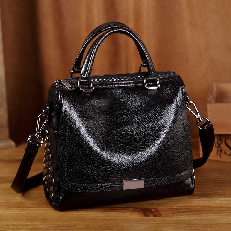 Сумки из натуральной кожи роскошные Брендовые женские сумки 2019 винтажные сумки через плечо для женщин сумки на ремне ведро мешок основной T12
