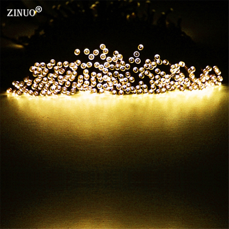 ZINUO 40M 400LEDs Solar Powered Led Garden Lights Fairy String Light Waterproof Decorative Christmas Outdoor Garden Lamps solar powered 0 64w 10lm 200 led blue light garden christmas party string fairy light blue 20 5m