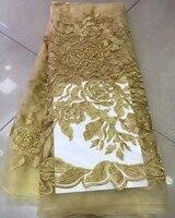 Chất lượng cao khối màu trang trí gạc thêu liệu ren hydrotropic sợi vải nhuộm ren trang phục chính thức phụ nữ một mảnh