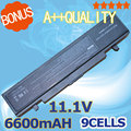 6600mAh 9 cell Battery For Samsung R519 R522 R523 R538 R540 R580 R620 R718 R720 R728 R730 R780 R467 R468 AA-PB9NC6B AA-PB9NS6B