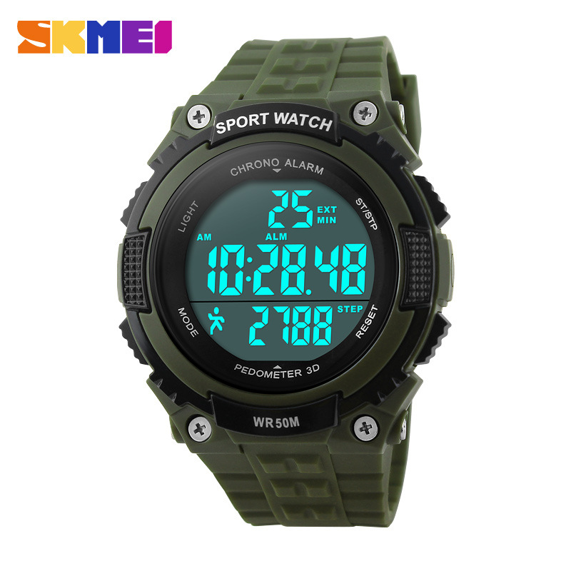 Sports Watches Pedometer Chronograph SKMEI Military Men Led Outdoor Waterproof 50M 1112