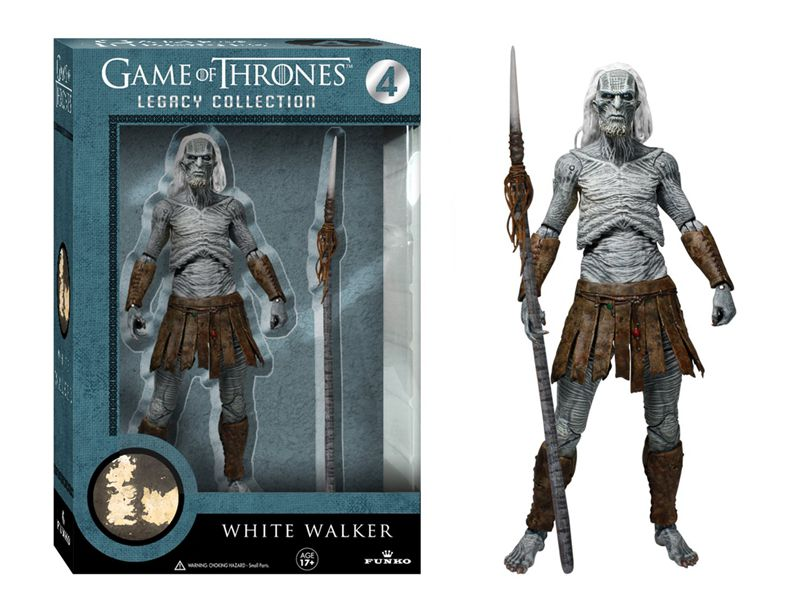 Official Funko <font><b>Action</b></font> <font><b>Figure</b></font> TV: <font><b>Game</b></font> <font><b>of</b></font> <font><b>Thrones</b></font> - <font><b>White</b></font> <font><b>Walker</b></font> with Spear 6'' Collectible Model Toy with Original Pacakge