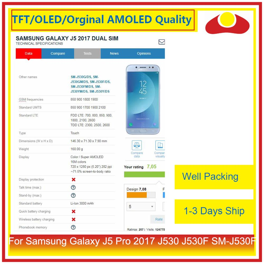 Image 4 - ORIGINAL For Samsung Galaxy J5 Pro 2017 J530 J530F SM J530F LCD Display With Touch Screen Digitizer Panel Pantalla Complete-in Mobile Phone LCD Screens from Cellphones & Telecommunications