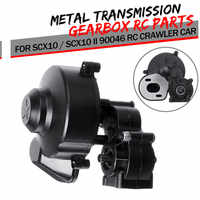 Hot Sale Plastic + Metal Complete Center Gearbox Transmission Box with Gear for Axial SCX10 / SCX10 II 90046 RC Crawler Car
