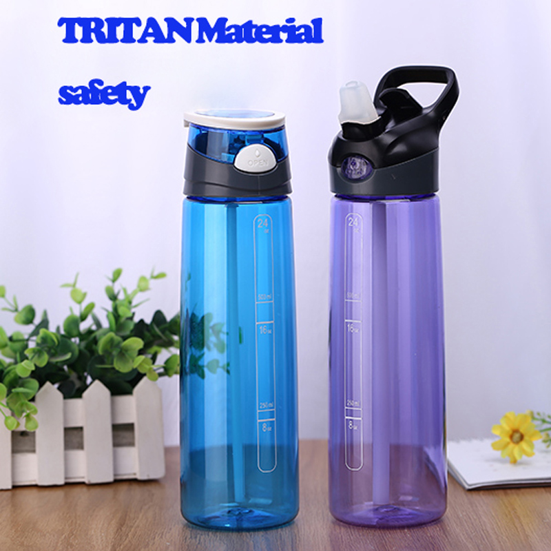 700ML TRITAN <font><b>LARGE</b></font> <font><b>Capacity</b></font> PP Water Bottle Straw Handy <font><b>Space</b></font> BPA Free Simple Tea <font><b>Cup</b></font> <font><b>Portable</b></font> Water Travel Bottle Sale
