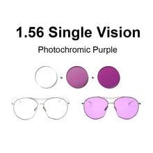 1.56 Photochromic Pink or Blue Purple Single Vision Lens SPH Range -8.00~+6.00 Max CLY -6.00 Optical Lenses for Eyewear