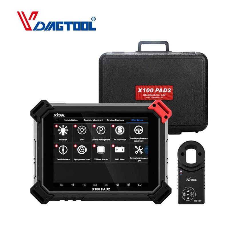 XTOOL X100 PAD2 Pro Pad 2 Melhor Do Que X300 Pro3 DP Immo Programador Chave Auto Com 4th e 5th para a maioria dos modelos de carros