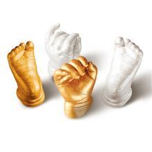 3D руки и ног печати плесень для ребенка косметическая пудра гипсовая отливка комплект отпечаток отпечатка ноги подарок на память ребенка роста мемориал