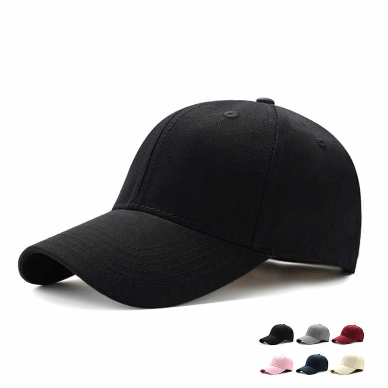 Adjustable Men's Baseball Caps Summer Plain Curved Sun Visor Hats Women Solid Color Caps Casquette Outdoor Fashion Accessories