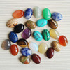 Wholesale More specifications Natural stone mixed Cabochon cab Beads stone Oval shape Cabochon 50-16Pcs/lot Free shipping