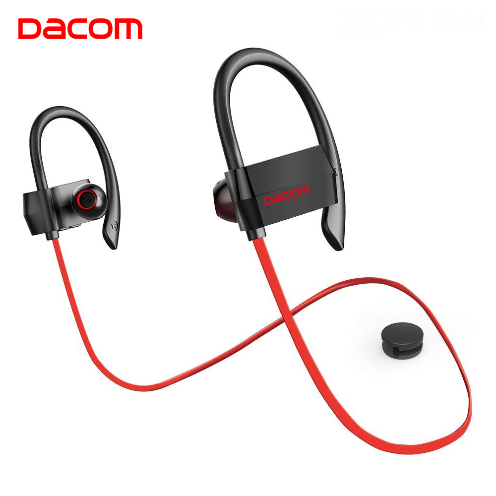 DACOM G18 Bluetooth Earphone Wireless Headset 4.1 Stereo Earpiece Running Earbuds with Mic Hands-free Earhook for iPhone Android zomoea bass earphone earbuds running stereo sport bluetooth headset wireless headphones for iphone android with microphone