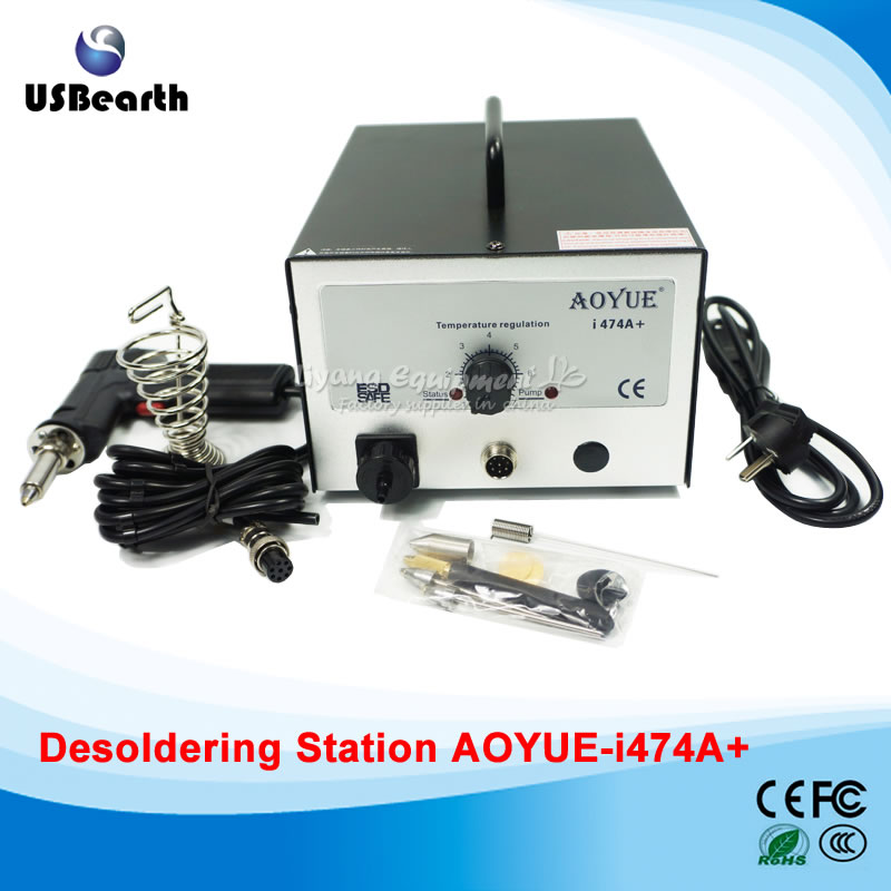 AOYUE 474A+ Upgrade I474A+ BGA Desoldering Station Electric Vacuum Desoldering Pump Solder Sucker Adjustable Temperature tgk desoldering pump