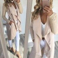 Women Knitted Sweater Long Jumper Overcoat Solid Ladies Knitwear Top Cardigan Coat