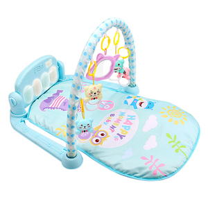 Image 2 - Nouveau 3 en 1 bébé tapis de jeu bébé gymnastique jouets doux éclairage hochets jouets musicaux pour bébés jouets éducatifs jouer Piano gymnase bébé cadeaux