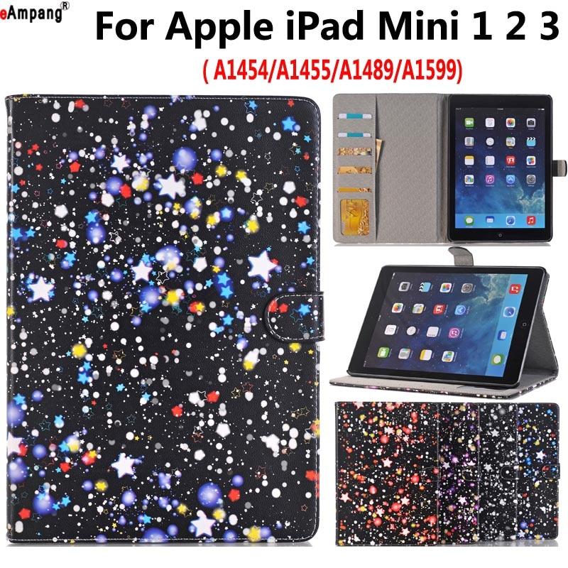 Starry Sky Painted Leather Case for Apple iPad Mini 1 2 3 Mini2 Mini3 Mini1 7.9 Smart Case Cover Funda Tablet Flip Stand Shell