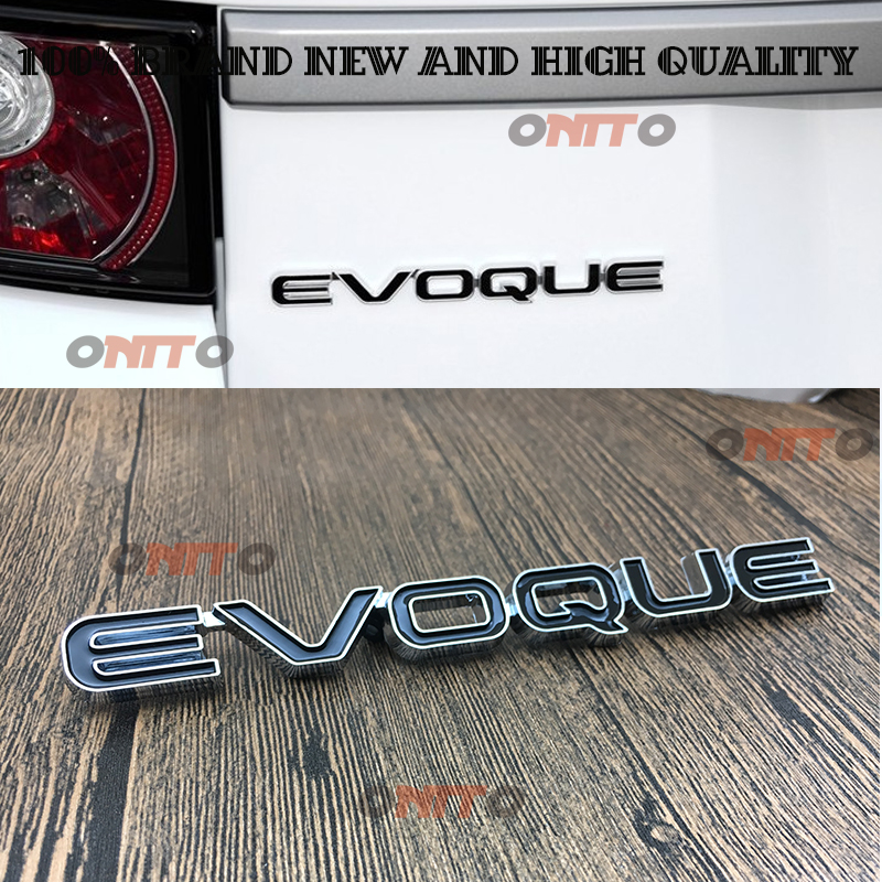 3D metal Black Evoque Emblem Badge Decal Car Sticker For LAND ROVER LR4 Range Rover Sport Evoque Rear Tail Badge body stikcers