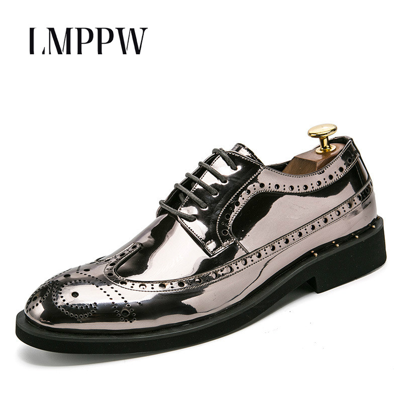 Men's Shoes Mens Wedding Dress Shoes Casual Crocodile Genuine Leather Oxfords Shoes Bussiness Brogues Shoes Moccasins For Mens Party Shoes Products Are Sold Without Limitations