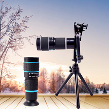 Hunting Optics 18X Zoom HD Objective Lens Telephoto Telescope Monocular Clip-On For Mobile Phones for Outdoor Bird Watching