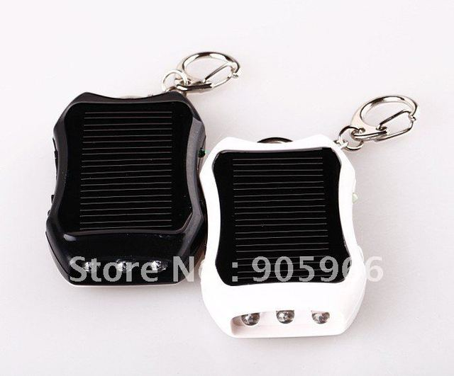 Mini Flashlight Solar Charger With Keychain Design For iphone, blackberry, samsung ,Mp3