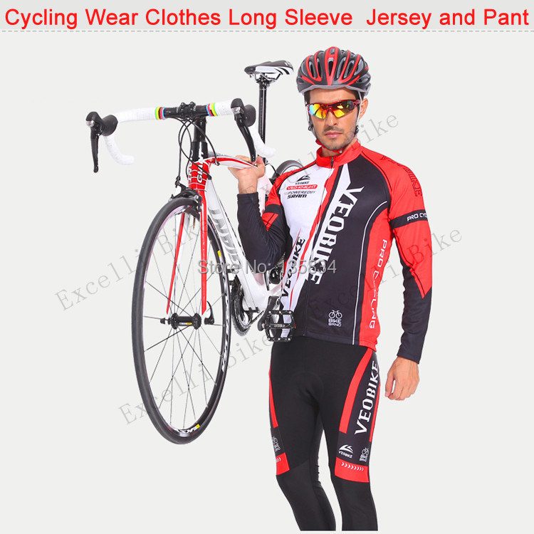 Jersey Cycling Sleeve Set Riding Jersey Set  S-XXXL Bicycle Bike Team Cycling Wear Clothes Long Sleeve Cycling Jersey and Pant краскопульт gav 162 а р