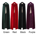 Child Kid Witch Long Purple Green Red Black Halloween Cloaks Hood and Capes Halloween Costumes for Gril Boy
