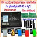 Модернизированный ЖК-дисплей с сенсорным экраном дигитайзер тестер совета рамки для iphone 4/4s 5 5s 5c 6 6 Плюс Универсальный