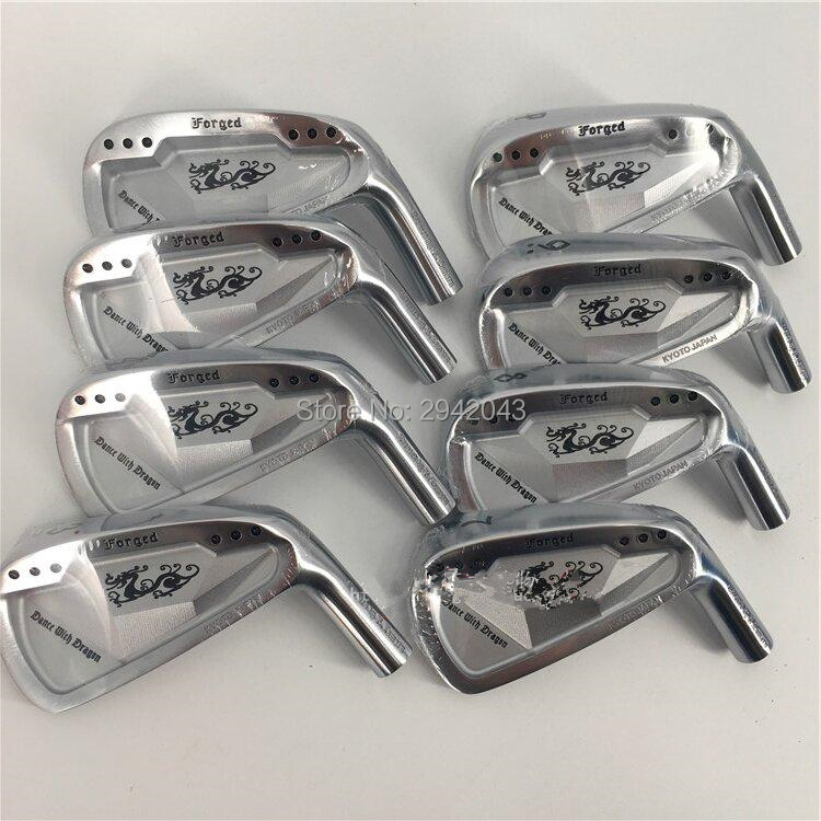 Right Hand Golf Clubs Dance With Dragon Forged Iron Set Silver Golf Forged Irons 3-9P Golf Head No Shaft free shipping golf 3 td 2011