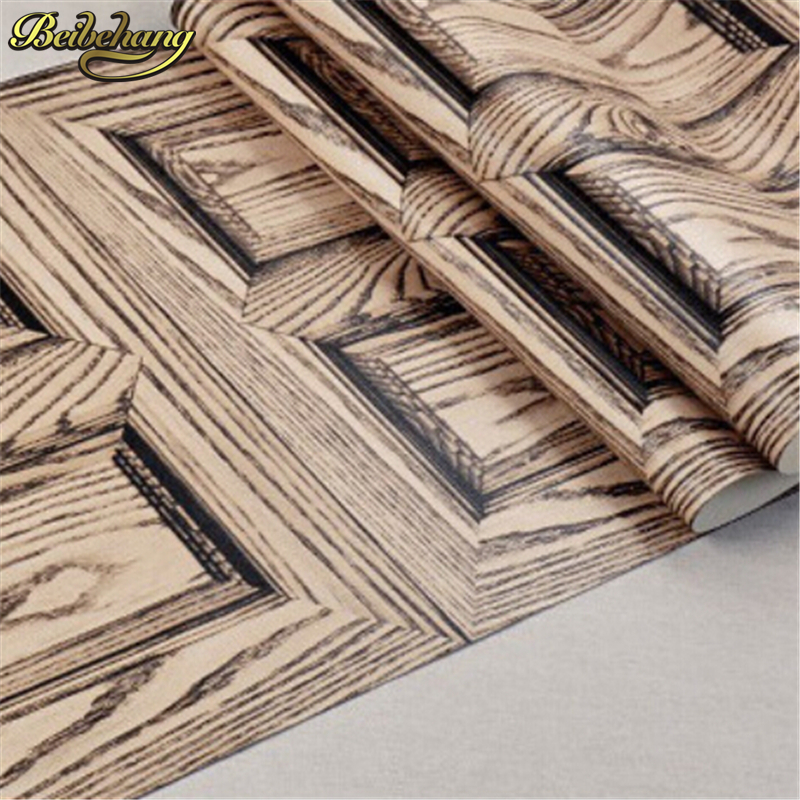 beibehang Pvc Wall paper Roll wood design wallpaper For living room Wallpaper for home decoration papel de parede papier peint snow background wall papel de parede restaurant clubs ktv bar wall paper roll new design texture special style house decoration