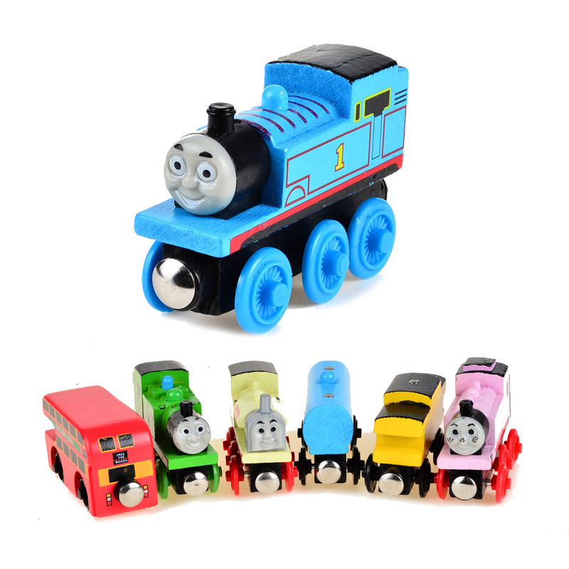 BOHS Wooden Magnetic Thomas Circus Train Donald Lady Gordon Friends Lorry Track Railway Vehicles Diecast Toy 78pcs hand crafted wooden train set triple loop railway track kids toy play set