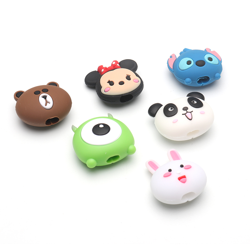 HTB1TjWtXIvrK1Rjy0Feq6ATmVXaB Cute Cartoon animel cable protector for iphone usb cable chompers holder charger wire organizer phone accessories dropshipping