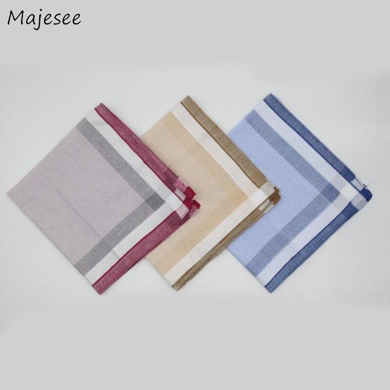 Handkerchiefs Women Plaid Trendy Various Color Leisure Classic Soft Ladies Cotton High Quality Womens Handkerchief 2019 Chic